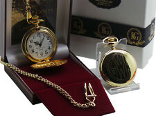 GWR Great Western Railway Gold Pocket Watch Luxury Gift Case 24k Clad Trains