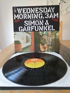 SIMON & GARFUNKEL WEDNESDAY MORNING 3 AM LP CBS UK SUNBURST LABELS.