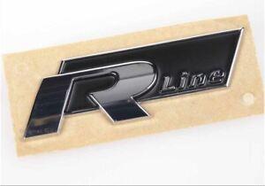 Orig VW R-Line Schriftzug Emblem Logo chrom/schwarz 5K0853688AFXC