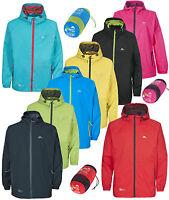 Trespass Qikpac Kids Waterproof Breathable Jacket Girls Boys Packaway Coat