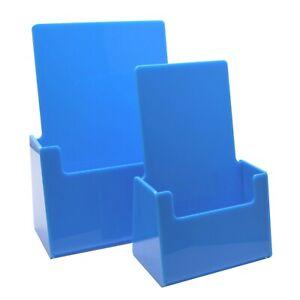Blue Leaflet Holder Counter Brochure Dispenser Business Card Holder DL A5 A6 A4