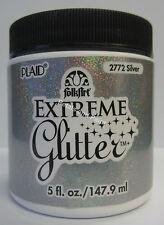 New Plaid Folk Art Extreme Silver Glitter Acrylic Paint 5 fl.oz/147.9ml #2772