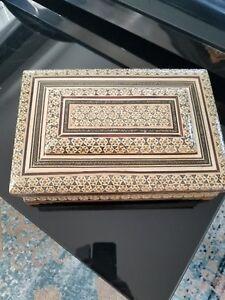 handmade wood box persian