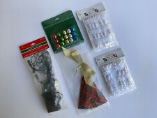 Lot of 5 Hallmark Keepsake Miniature Ornaments & Tree Skirt for Mini Tree