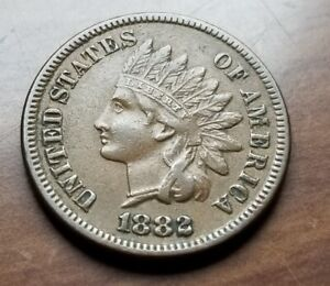 1882 Indian Head Cent Penny