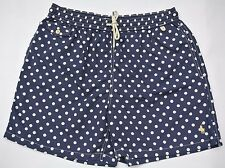 NEW POLO RALPH LAUREN NAVY WHITE DOT TRAVELER SWIM WEAR BOARD PONY TRUNKS LARGE