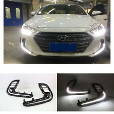DRL LED Daytime Running Lighting White LED Lamp For Hyundai Elantra 2016-2017