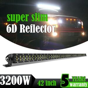 6D 42inch 3200W Led Work Light Bar Flood Spot Combo 4WD ATV Truck Lamp VS 40/44""