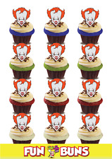 Effrayant Halloween Clown Pennywise IT Standup Edible plaquette Toppers. Party Fun