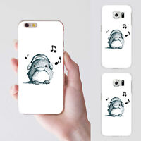 Listen to Music Penguin Case Cover for iPhone 7 Plus Samsung Galaxy S6 S7 Unique