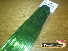 HEDRON FLASHABOU GREEN - NEW STREAMER FLY TYING FLASH MATERIALS