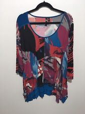 Taking Shape Ladies Tunic Size Medium 3/4 Length Sleeves Patterned Travel Summer