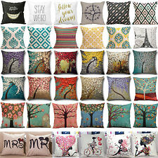 Vintage Geometric Pillow Case Cushion Cover Cotton Linen Sofa Room Home Decor
