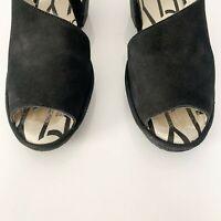 Fly London Palp Black Nubuck Sandal Size 38 US 7 - 7.5