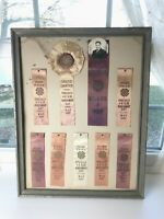 Vtg 1947 4-H Club AWARD RIBBONS Poolville TEXAS Grand Champion First Prize FADED
