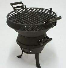 Firepit Round BBQ Charcoal Barbeque Chiminea Grill Patio Fire Pit Garden Folding