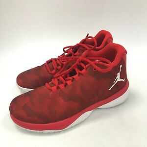 Jordan Trainers Size UK 7 Red Camo Design Lace Up Low Top Brand Logo 012257