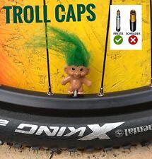 TROLL BICYCLE BIKE VALVE CAPS PRESTA DUST CAPS FUNNY COOL VALVE CAPS PAIR