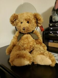 """Russ """"Sutton"""" Bear, Plush 14"""" Knit Paws Stuffed Animal toy #1, with tag"""