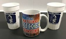 Duke Basketball 2001 Championship Mug Cup Twin Cities Final Four 2 Tumblers