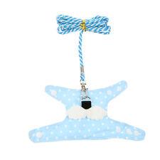 Small Pet Adjustable Hamster Vest Harness Puppy Leash Training Collar Blue