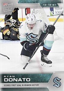 2021-22 TOPPS NOW NHL STICKER SEATTLE KRAKEN RYAN DONATO #3 1st FRANCHISE GOAL