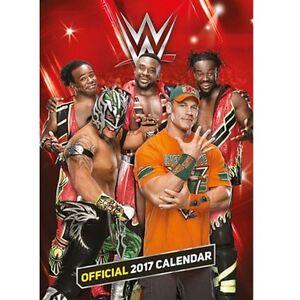 World Wrestling Official 2017 Calendar A3 Nip