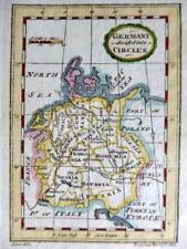 GERMANY MINIATURE COPPER  ENGRAVED MAP BY TERRY / TURNER GENUINE ANTIQUE  c1792