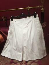 Hobbs White A-line Cotton Skirt Size 12 Immaculate