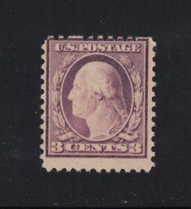 1919 Washington Sc 501 3c violet MNH missing perforation pins at top row