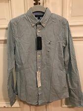 Tommy Hilfiger camisa casual camisa talla xs para caballeros verde 100% algodón nuevo