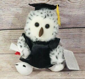 "Russ Shining Stars Plush Graduation Owl Stuffed Animal 2007 9"" New Sealed Code"