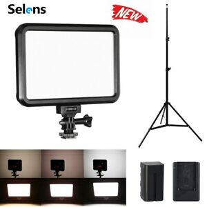 LED Video Light for Camera Camcorder Photo Studio w/ Battery & Charger Stand Kit