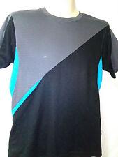 Mens elite T-shirt, Size 14, Polyester, Gtey / Black, Short Sleeves, Chest 80cm
