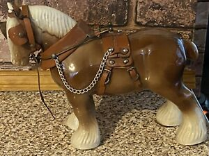 VINTAGE POTTERY OLD SHIRE HORSE