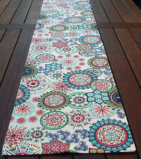 TABLE RUNNER 'WILDFLOWER BLUE' 180 LONG - LOVELY SOFT AQUA BLUES AND GREENS
