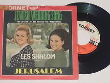 "LES SHALOM -Jewish Wedding Song / Jerusalem- 7"" 45"