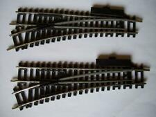 Hornby Set of 2 x R612 Steel Left Hand Point Switch Good Condition OO HO GAUGE