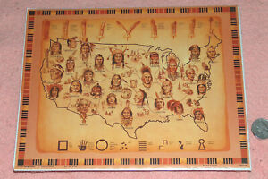 1995 Flying Colors Ian Wilde Old Tribe Map Wall Art Shrinked NM