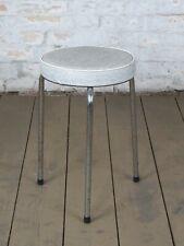 Mid Century Sitzhocker Stool Hocker Vinyl Stahlrohr Vintage 60er 70er Jahre