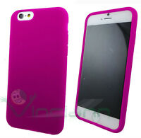 PELLICOLA+Custodia silicone FUCSIA per iPhone 6 6S cover morbida anti urto gel