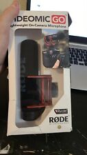 Rode VideoMic Go Light-weight On-Camera Microphone VMG Open Box Authentic Read!!