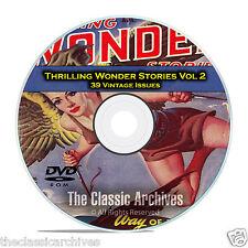 Thrilling Wonder Stories, Vol 2, 39 Vintage Pulp Magazine, Fiction DVD CD C60