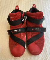 Nike Lebron Soldier IX (PS) 776472-606 SIZE 3Y RED/WHITE
