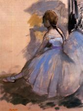Dancer Seated Study by Edgar Degas Ballerinas Painting Art Canvas Print 8x10