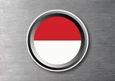Indonesia flag sticker quality 7 year water & fade proof vinyl car ipad