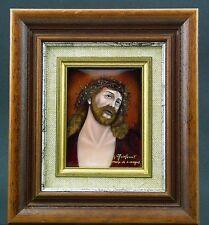 EMAIL LIMOGES 8,5 x 6 cm ENCADRES 15,5 x17,5 cm signé A.GRAFEUILLE Parfait Etat