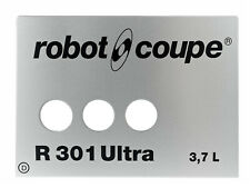 ROBOT COUPE NAME PLATE 405928 FOR R301 ULTRA 3.7L FRONT PLATE ORIGINAL GENUINE