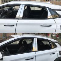 Chrom B Säule Verkleidung 6 tlg Edelstahl für Hyundai Kona ab 2017