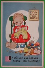 MABEL LUCIE ATTWELL CHILDREN COMIC Postcard c.1965 IF ITS NOT ONE DARNED THING